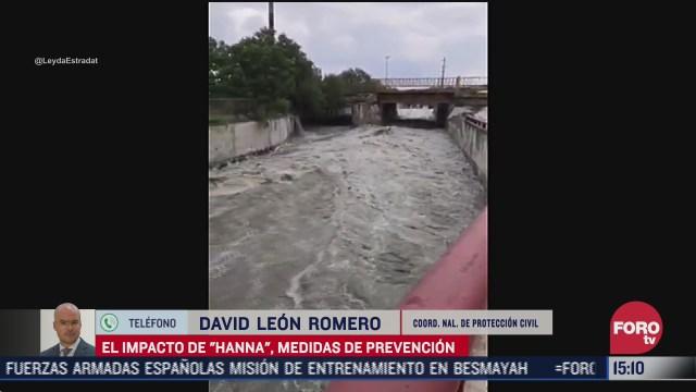 listos 10 mil efectivos de proteccion civil ante llegada de huracan hanna