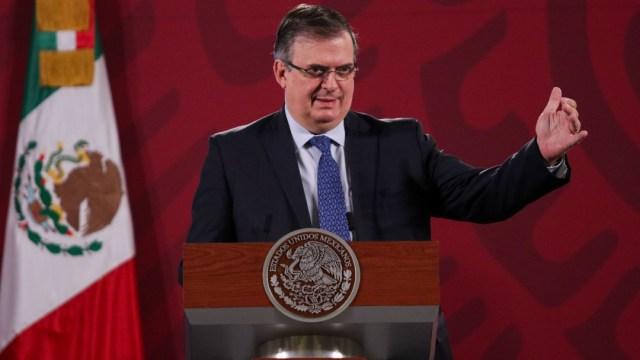 Marcelo Ebrard, secretario de Relaciones Exteriores, durante la conferencia de prensa matutina