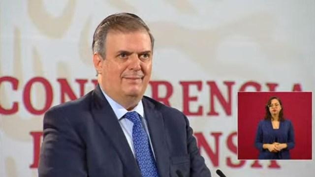 El secretario de Relaciones Exteriores, Marcelo Ebrard Casaubón, en conferencia de prensa matutina . (Foto: Redes sociales Gobierno de México)