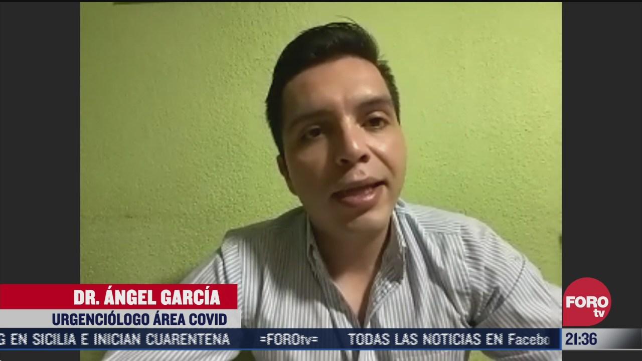 médico Ángel García narra cómo su mamá enfrenta el contagio por coronavirus