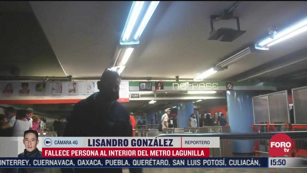 FOTO: 11 de julio 2020, muere empleado de limpieza al interior del metro lagunilla