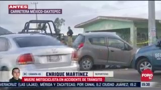 FOTO: 12 de julio 2020, muere motociclista en accidente de transito en carretera mexico oaxtepec