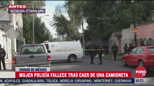 muere mujer policia tras caer de camioneta de la ssc cdmx