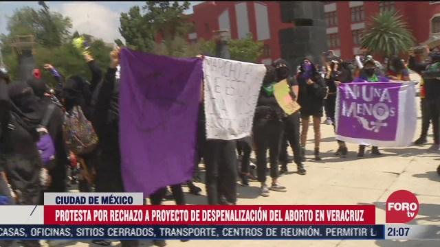 Cientos de mujeres protestan en calles de la CDMX tras el rechazo de la SCJN a despenalizar el aborto en Veracruz