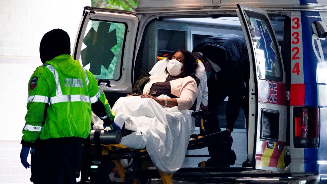 Paciente con coronavirus en ambulancia