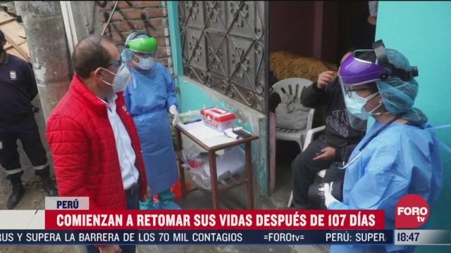 peruanos retoman sus actividades tras confinamiento