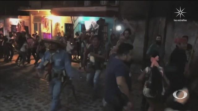 Fiesta del Cencerro en el municipio de Xico, Veracruz pese a coronavirus