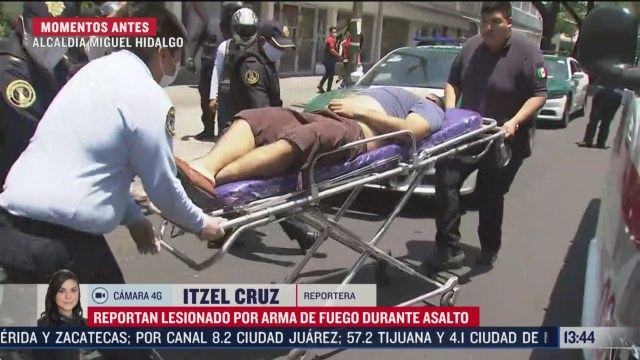 presunto asaltante lesionado por arma de fuego en la alcaldia miguel hidalgo