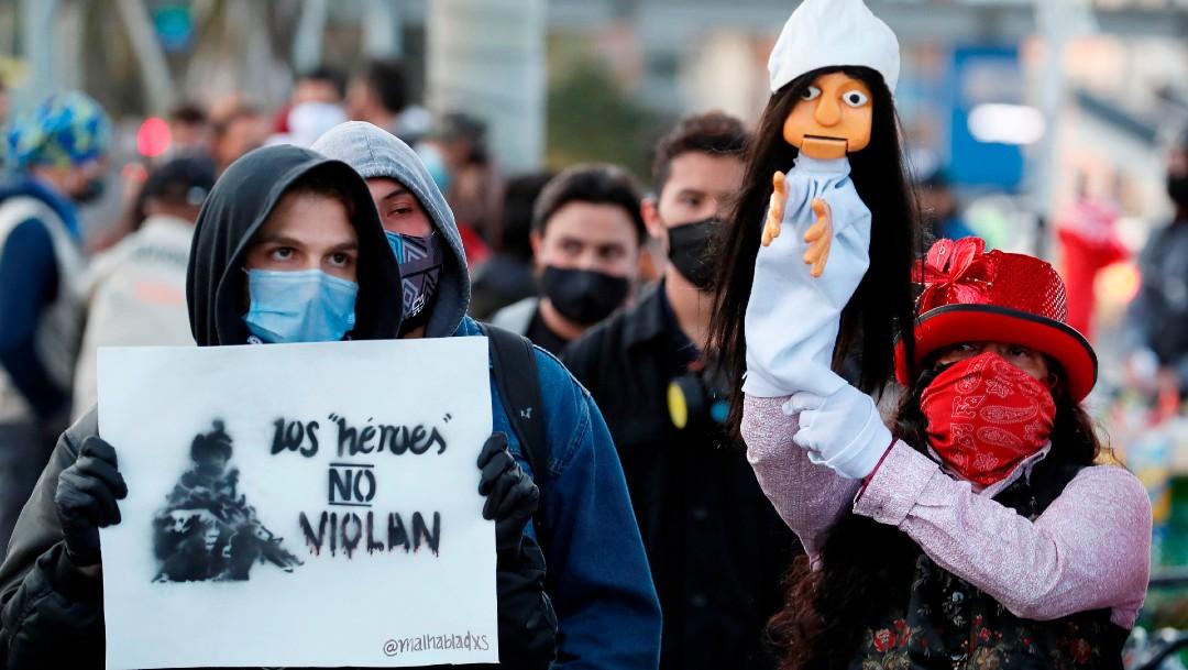 Protestan en Bogotá por violación de niña indígena a cargo de soldados del Ejército colombiano