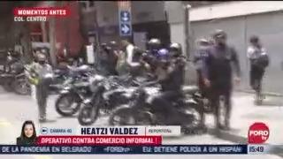 FOTO: 11 de julio 2020, realizan operativo contra el comercio informal en la ciudad de mexico