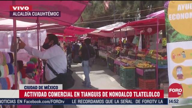 reanudan actividad en tianguis de tlatelolco en cdmx