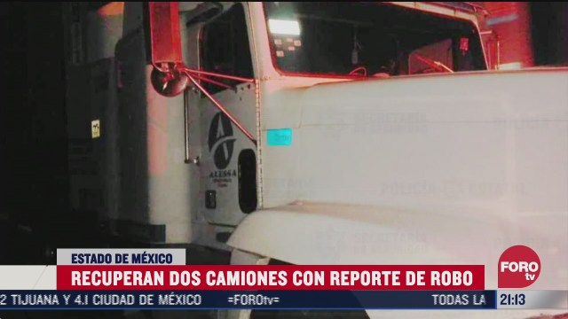 camión con reporte de robo recuperado en Edomex