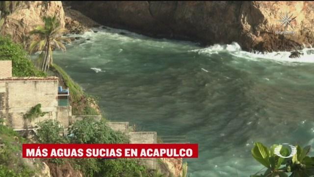derrame de aguas negras en pie de la cuesta en acapulco guerrero