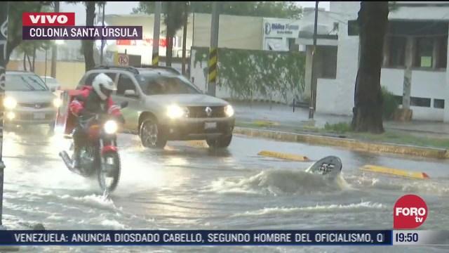 inundación en Insurgentes tras lluvias en CDMX