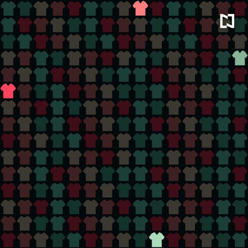 Respuesta reto visual playeras cuello V, ilustración