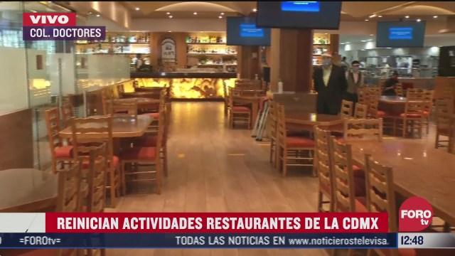 restaurantes contaran con zona covid