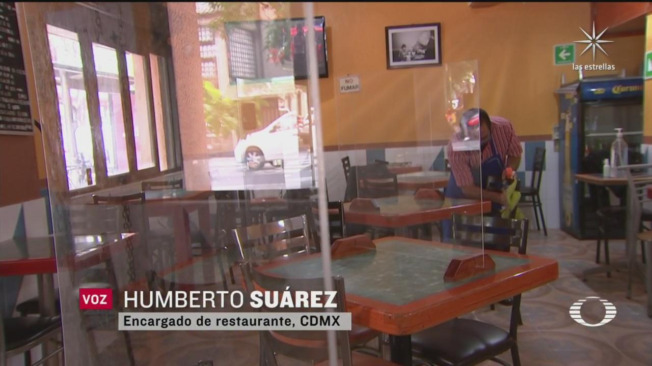 restaurantes de la cdmx reabre al 30 de su capacidad y colocan paneles de acrilico