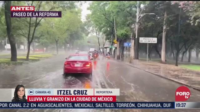 lluvia y caida de granizo en cdmx