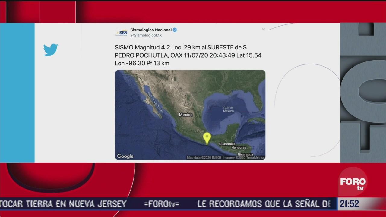 FOTO: 11 de julio 2020, se registra sismo de magnitud 4 2 en san pedro pochutla en oaxaca