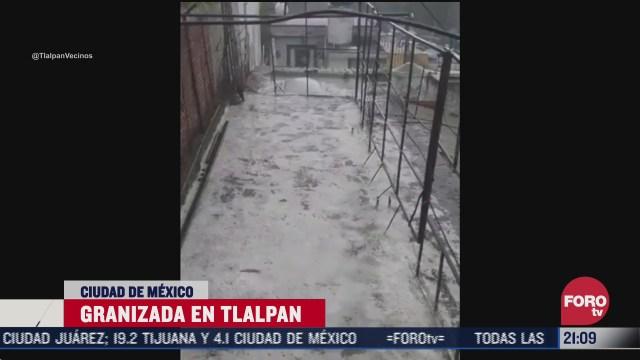 FOTO: 12 de julio 2020, se registran encharcamientos tras fuerte lluvia en la alcaldia tlalpan