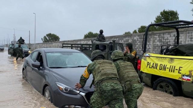 Por Hanna, Ejército despliega más de 350 elementos en Nuevo León y Tamaulipas