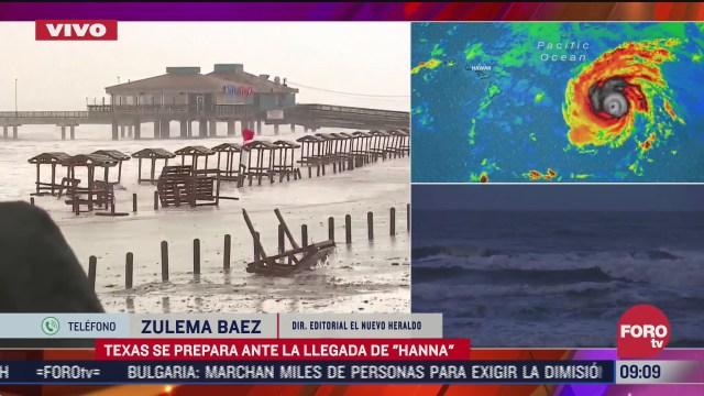 FOTO: 25 de julio 2020, texas se prepara ante la llegada del huracan hanna