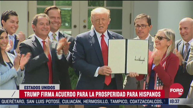 trump firma iniciativa de prosperidad hispana