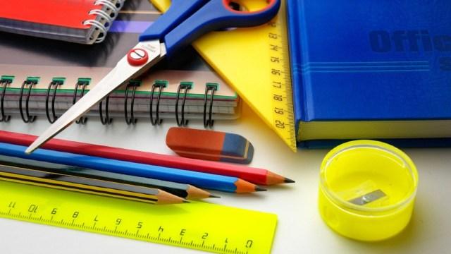 Útiles escolares, imagen ilustrativa