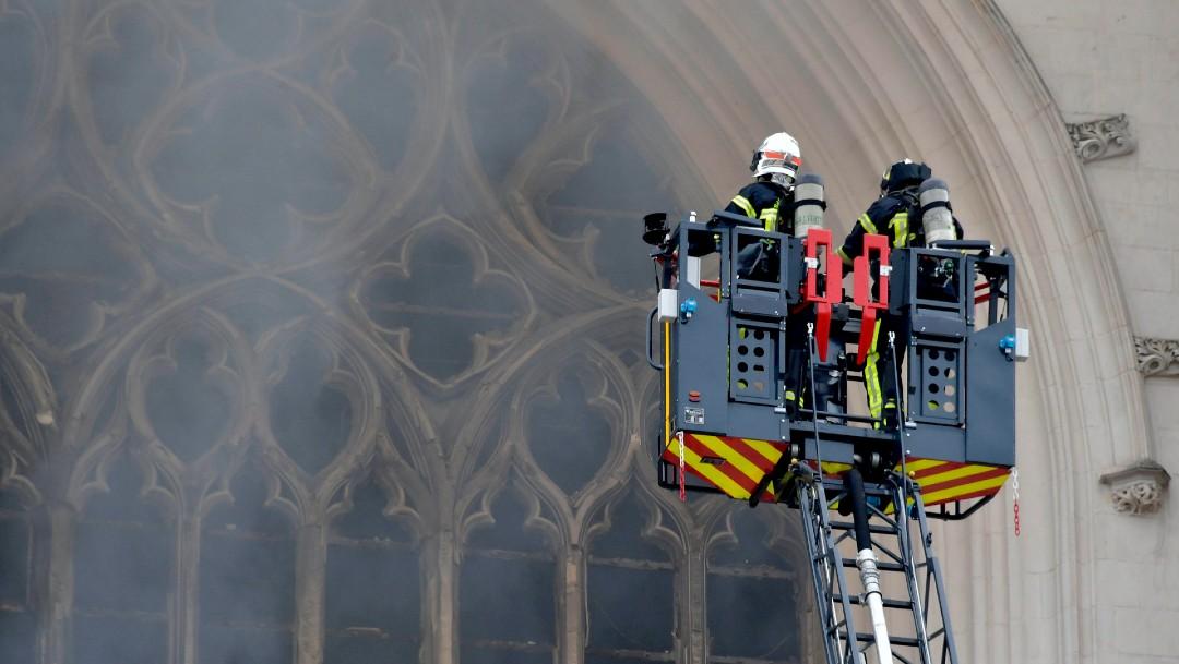 Voluntario confiesa ser el autor del incendio en Catedral de Nantes, en Francia