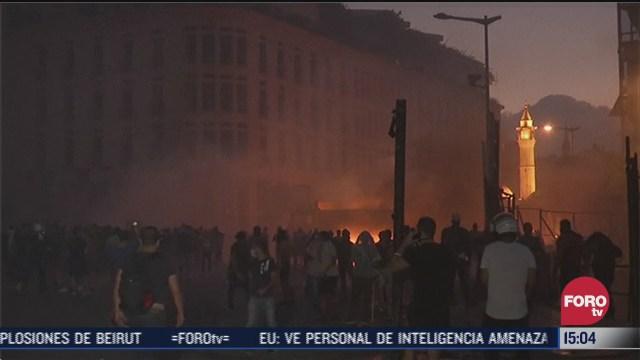 16 detenidos tras protestas en beirut