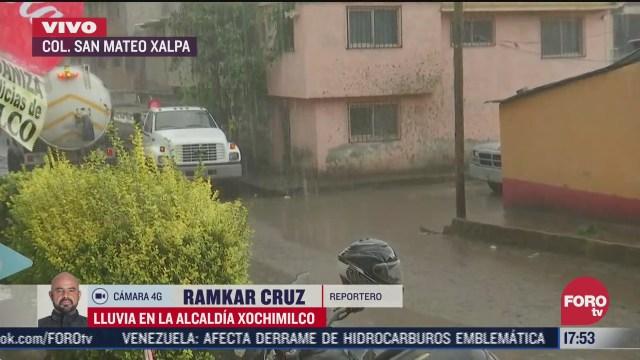 activan alerta por lluvia en alcaldia xochimilco
