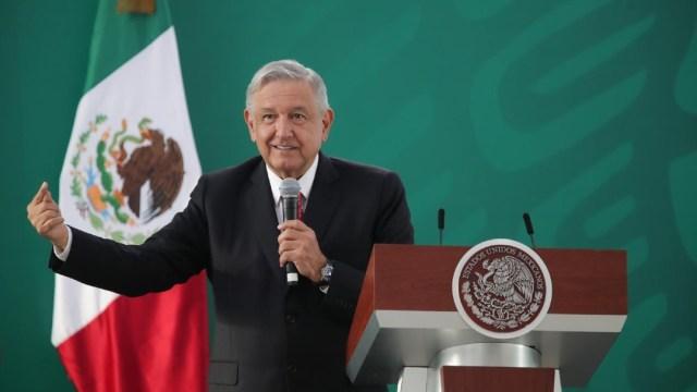 El presidente de México, Andrés Manuel López Obrador (AMLO), en conferencia de prensa desde Querétaro.