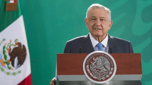 El presidente de México, Andrés Manuel López Obrador, en conferencia de prensa matutina desde Zacatecas