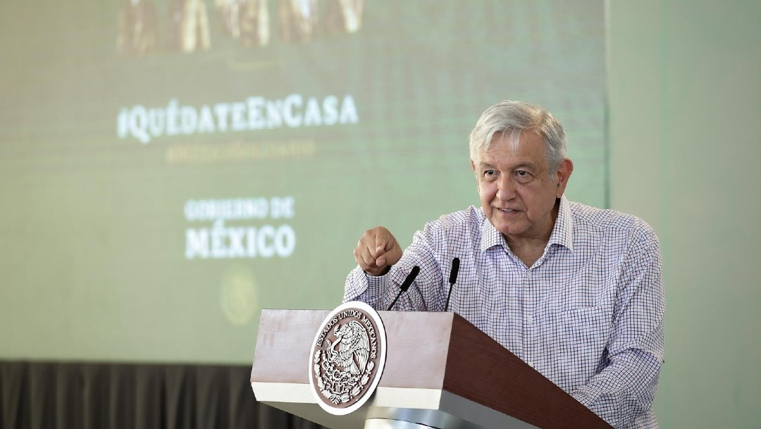 El presidente Andrés Manuel López Obrador en conferencia de prensa desde Tamaulipas