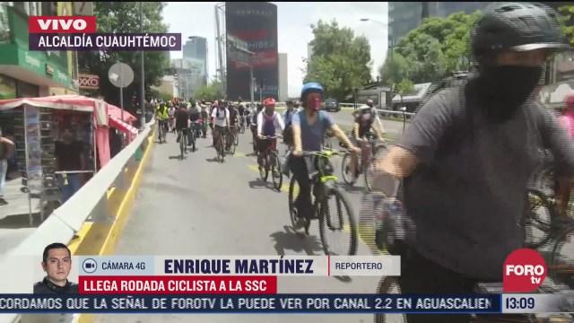 arranca rodada en protesta por muerte de ciclistas