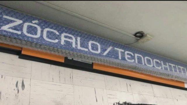 cambiaran nombre a la estacion zocalo del metro de la cdmx