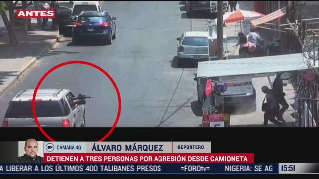 captan agresion con arma larga desde una camioneta en cdmx