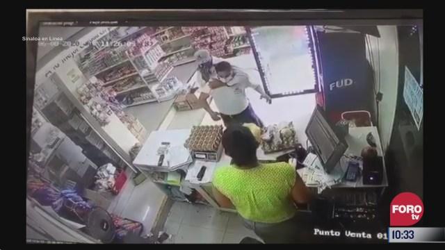 captan asalto a una tienda de abarrotes en mazatlan sinaloa