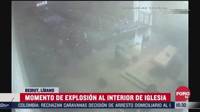 captan explosion en beirut desde iglesia