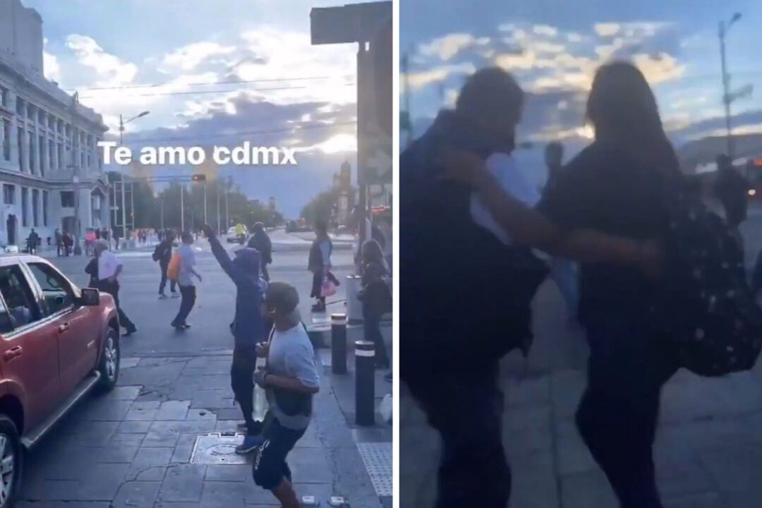 "Baile de ""La Chona"" frente a Bellas Artes en CDMX: Video"