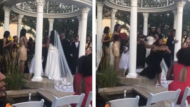 Mujer detiene boda, dice estar embarazada del novio: Video