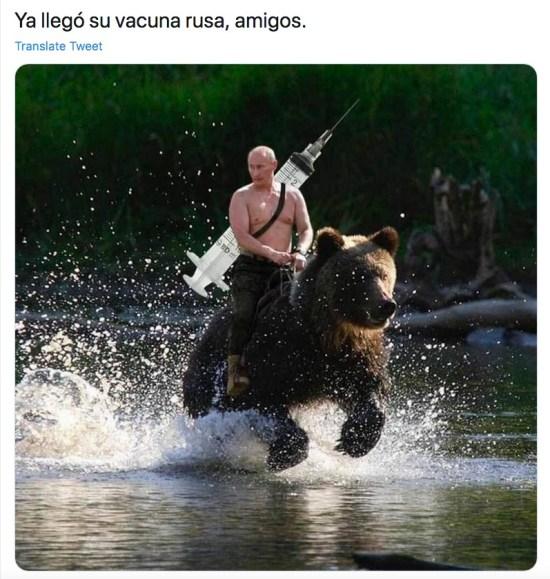Los memes sobre la vacuna rusa Sputnik V anunciada por Putin