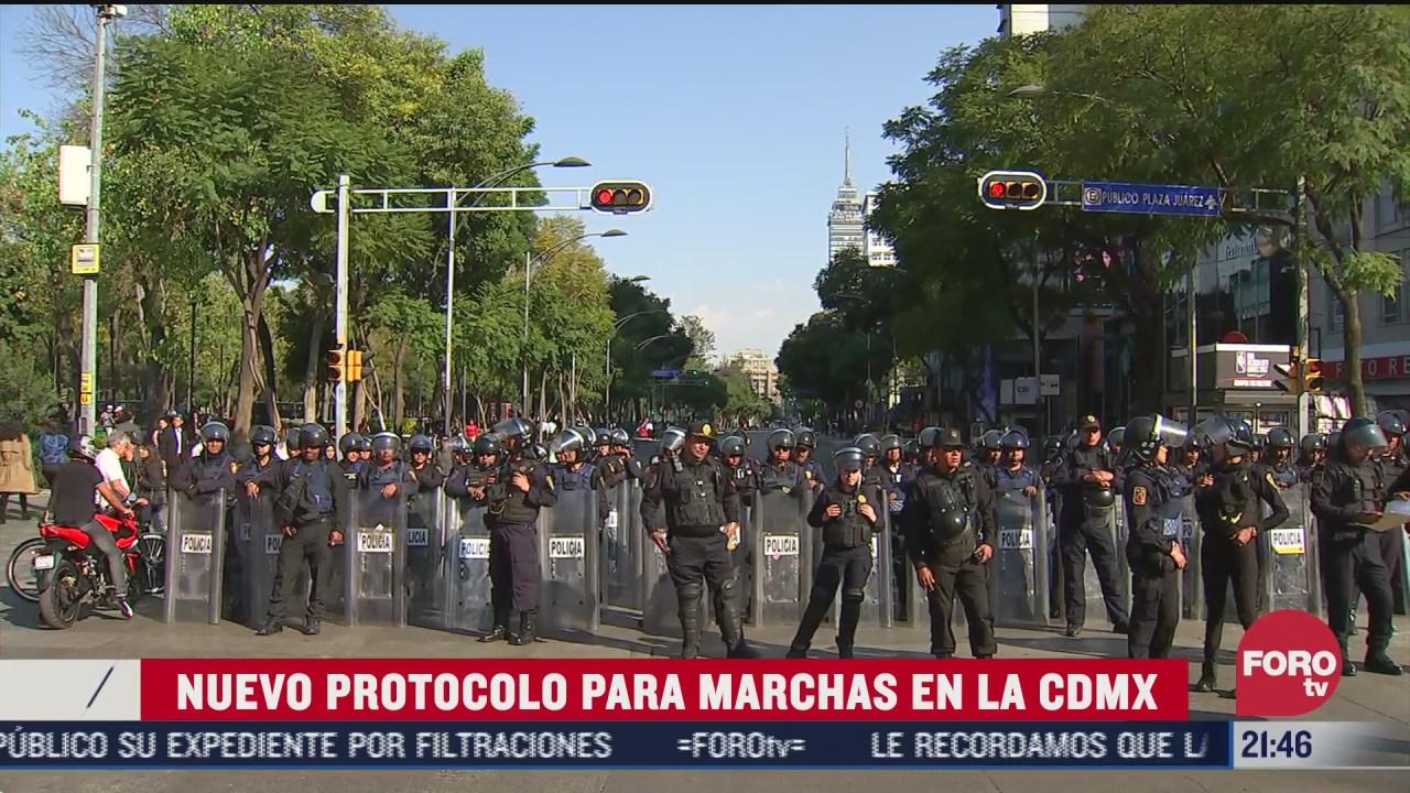nuevo protocolo para marchas en CDMX