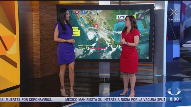 clima al aire el huracan genevieve descarga lluvias en baja california sur