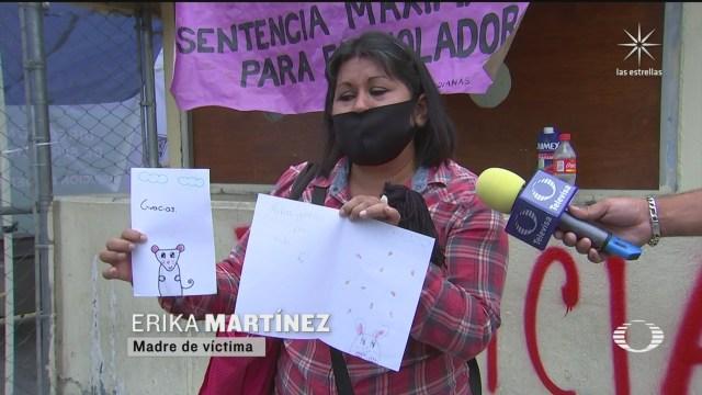 Colectivos feministas se manifiestan afuera del Reclusorio Oriente por el abuso sexual de una niña de 7 años, el caso Judith