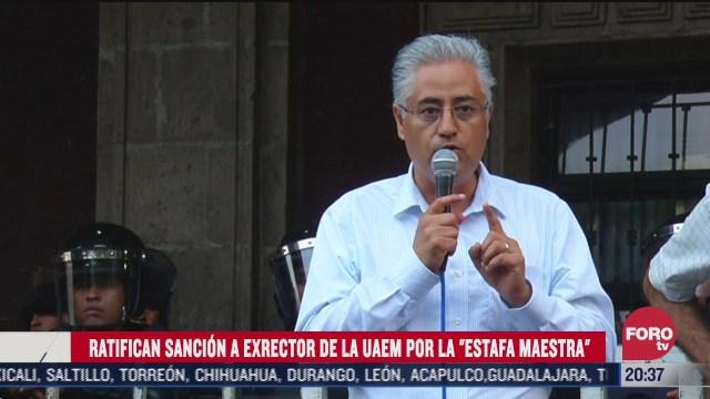 exrector de la UAEM, José Alejandro Vera Jiménez vinculado con la estafa maestra