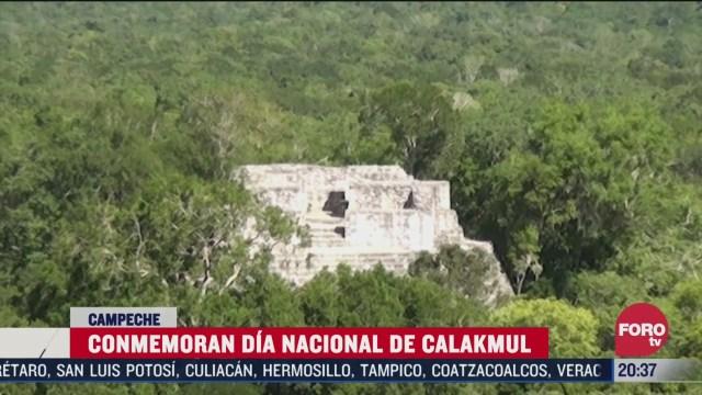 conmemoran dia nacional de calakmul en campeche