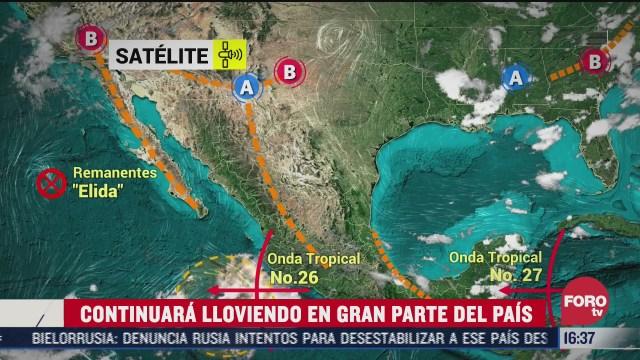 continuaran lluvias en el centro de mexico proteccion civil