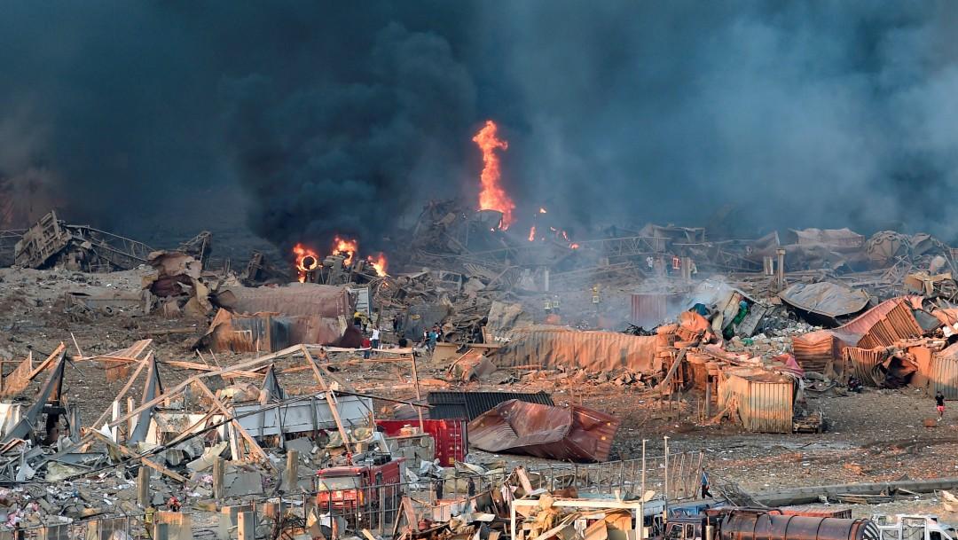 daños materiales en libano por explosión