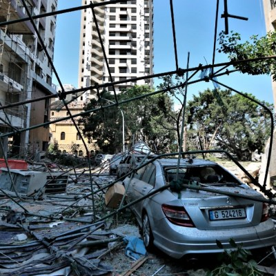 Daños por explosión en Beirut
